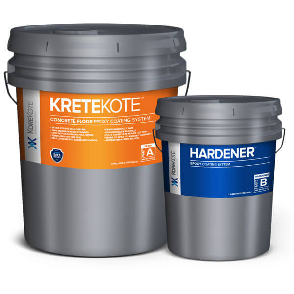 KoreKote KreteKote Concrete Floor Epoxy coating System