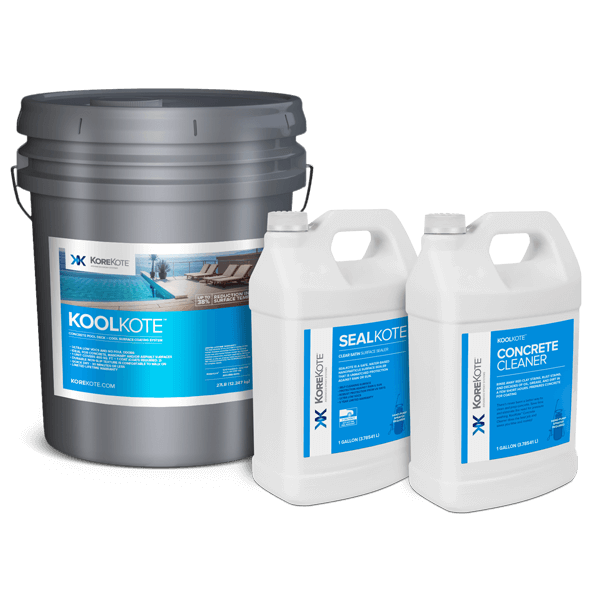 KoreKote KoolKote Pool deck coating cooling kit system.